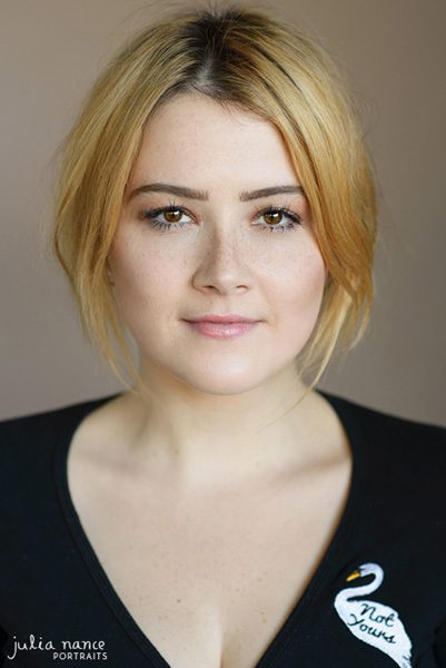 Natural light Melbourne Actors Headshot of girl with blonde hair