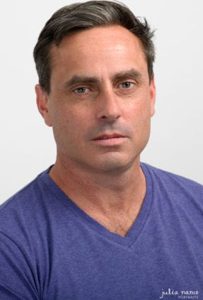 Melbourne actor with serious expression for a studio actor headshot